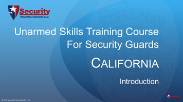 California BSIS-approved Guard Card Training manuals and lecture materials